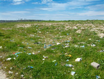 Packaging pollution. Pollution of the environment. Packaging pollution Stock Photography
