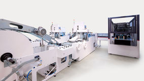 Packaging and printing machines Stock Images