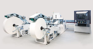 Packaging and printing machines Stock Image