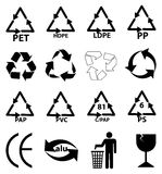 Packaging recycle icons set vector illustration