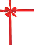 Packaging with a red ribbon with a bow Royalty Free Stock Image