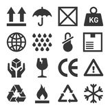 Packaging and Shipping Symbols Set. Vector Royalty Free Stock Photo
