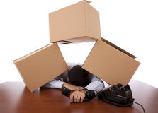 Packaging stress Royalty Free Stock Images