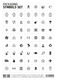 Packaging symbols set icon. Royalty Free Stock Image