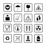 Packaging symbols set 1 of 2 . Royalty Free Stock Photo