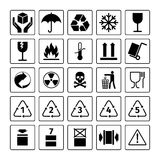 Packaging symbols set Stock Photo