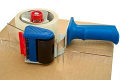 Free Packaging Tape And Dispenser Royalty Free Stock Images - 31051249