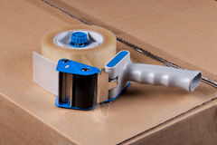 Packaging Tape Gun Dispenser Stock Photo
