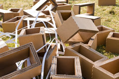 Packaging waste stock photos