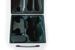 Packagingi nero della scatola di plastica di colore Fotografia Stock Libera da Diritti