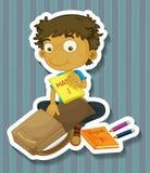 Packande påse stock illustrationer
