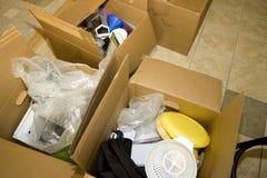 packande uppackning Fotografering för Bildbyråer