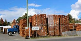 Packar av Cedar Shakes Arkivbilder
