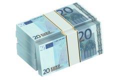 Packar av 20 euro 3D Arkivbild