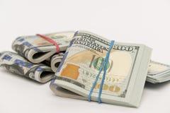 Packar av hundra dollarräkningar Royaltyfri Bild