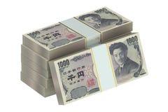 Packar av japanska yen vektor illustrationer