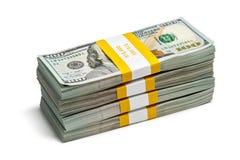 Packar av 100 US dollar upplagasedlar 2013 Royaltyfria Bilder