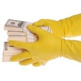 packar för handpengar Royaltyfria Bilder