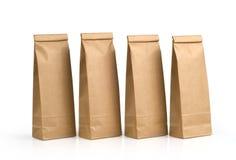 Packar för Kraft papper arkivbild