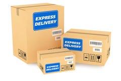 Packar för uttrycklig leverans Fotografering för Bildbyråer