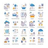 Packar plana vektorer för affärsanalys stock illustrationer