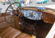 1934 Packard Automobile Interior stock photography