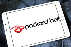Packard Bell Computer hardware company logo. Logo of Packard Bell on samsung tablet. Packard Bell is a Dutch based computer manufacturing subsidiary of Acer Royalty Free Stock Image