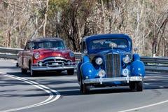 1937 Packard 120C sedan. Adelaide, Australia - September 25, 2016: Vintage 1937 Packard 120C sedan driving on country roads near the town of Birdwood, South Stock Image