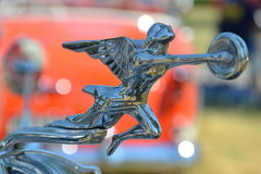 Packard Hood Ornament in Shelby Township, Michigan. Annual car show at the old Packard Proving Grounds draws thousands Royalty Free Stock Photos