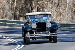 1928 Packard 526 Phaeton. Adelaide, Australia - September 25, 2016: Vintage 1928 Packard 526 Phaeton driving on country roads near the town of Birdwood, South Stock Photos