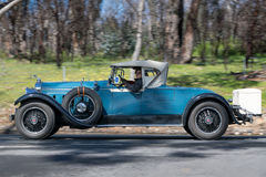 1928 Packard 526 Phaeton. Adelaide, Australia - September 25, 2016: Vintage 1928 Packard 526 Phaeton driving on country roads near the town of Birdwood, South Stock Photo