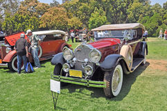 Packard Phaeton. Out of the Great Gatsby era comes this 1929 Packard Phaeton Saloon Coupe. This was the hallmark of luxury for the discerning motorist. The Great Royalty Free Stock Photos