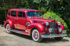 Packard. A Red 1938 Packard car Royalty Free Stock Photos