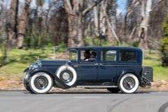 1927 Packard Sedan. Adelaide, Australia - September 25, 2016: Vintage 1927 Packard Sedan driving on country roads near the town of Birdwood, South Australia Stock Photo