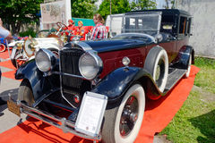 Packard singel åtta bil- materielbild för 143 tappning Royaltyfria Foton