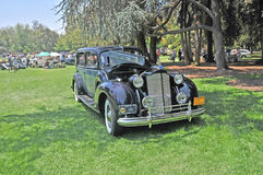 Packard 12. This is a stunning black 1938 Packard 12 on display at Lacey Park, San Marino, California Royalty Free Stock Photography