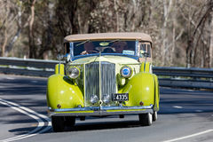 1935 Packard 1200 Tourer. Adelaide, Australia - September 25, 2016: Vintage 1935 Packard 1200 Tourer driving on country roads near the town of Birdwood, South Royalty Free Stock Photography
