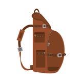 Packback travel bag tourist side view. Vector illustration eps 10 Stock Image