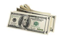 Packe av amerikanpengar Fotografering för Bildbyråer