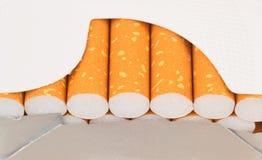 Packe av cigaretter Arkivbilder