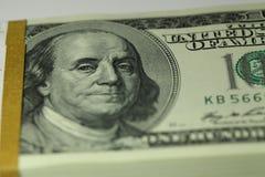 Packe av dollar Fotografering för Bildbyråer