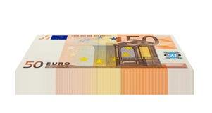 Packe av 50 eurosedlar Royaltyfria Bilder