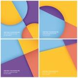Packe av geometriska bakgrunder för vektorabstrakt begrepp Arkivfoto