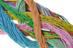 Packe av kablar flödet av information Arkivfoto