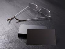 Packe av klara affärskort för företags identitet royaltyfri foto