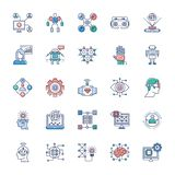 Packe av moderna teknologisymboler vektor illustrationer