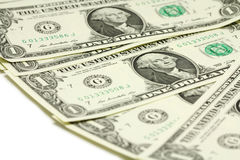 Packe av räkningar i en amerikansk dollar Royaltyfri Fotografi