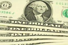 Packe av räkningar i en dollar Royaltyfri Fotografi