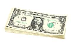 Packe av räkningar i en US dollar Royaltyfri Bild