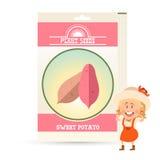 Packe av sötpotatisfrö stock illustrationer